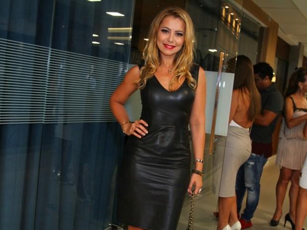 Simone Soares em evento na Barra da Tijuca, Zona Oeste do Rio (Foto: Anderson Borde/ Ag. News)