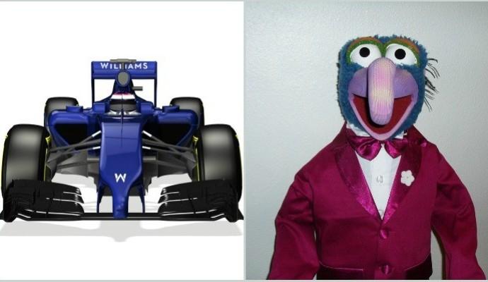 Fãs comparam bico rebaixado da nova Williams com personagem Gonzo, dos Muppets (Foto: Reprodução )