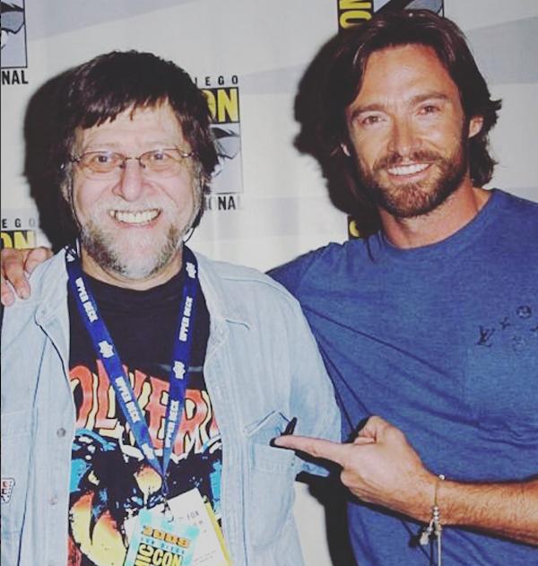 O ator Hugh Jackman e o co-criador do personagem Wolverine, o quadrinista Len Wein (Foto: Instagram)