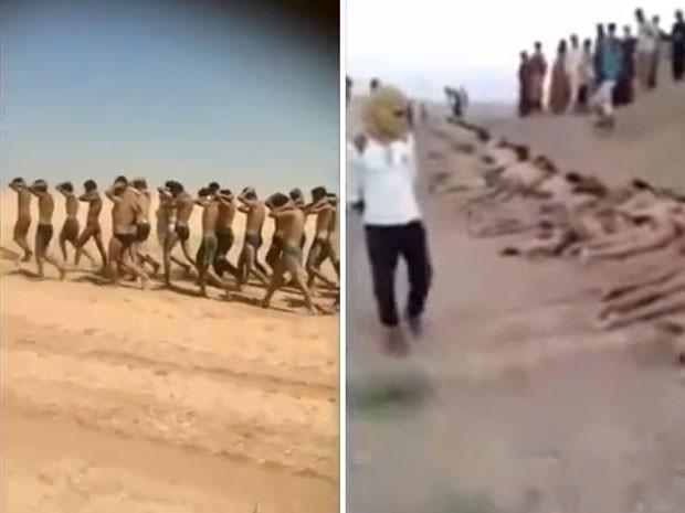 Vídeo publicado no Youtube mostra execução de soldados sírios (Foto: AFP)