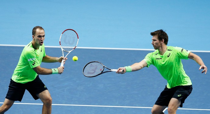Bruno Soares e Alexander Peya no ATP Finals (Foto: AP)