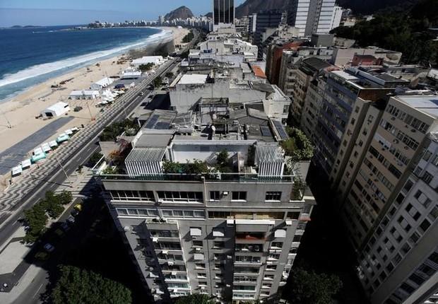 Prédios no bairro do Leme, no Rio de Janeiro; imóveis; imóvel (Foto: Ricardo Moraes/Reuters)