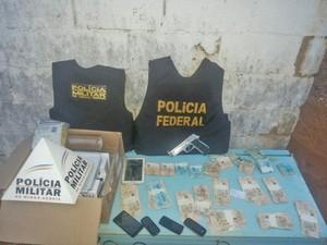 Polícia Federal Prende Suspeito de Tráfico em Lagoa da Prata, MG (Foto: Polícia Militar/Divulgação)