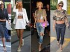 Siga o exemplo de Rihanna e veja como usar looks com barriga de fora