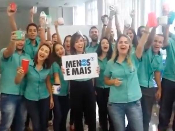 Equipe se uniu  (Foto: Globo)