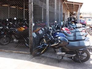 Motos apreendidas foram encaminhadas para o pátio da CTMac, em Macapá (Foto: Patrícia Leal/Asscom CTMac)