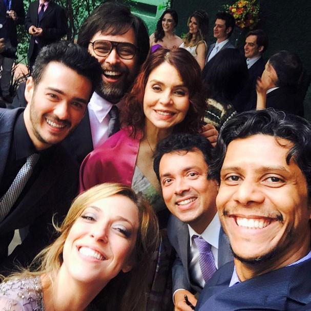 Os convidados famosos: Françoise Fourto, Rodrigo Fagundes, Marcos Vera e Julia Rabello (Foto: Reprodução/Facebook)