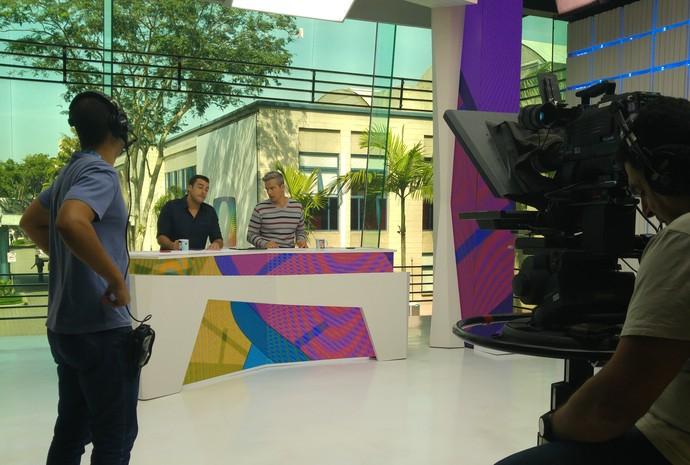Jaque Santtos participa de treinamento no 'Vídeo Show'' (Foto: Arquivo Pessoal)