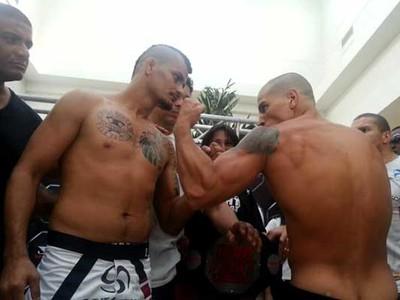 Samuel Trindade, Leonardo Macarrão, MMA, encarada (Foto: Arquivo pessoal)