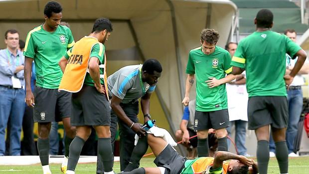 Luiz Gustavo treino Seleção Brasil Belo Horizonte (Foto: Jefferson Bernardes / VipComm)