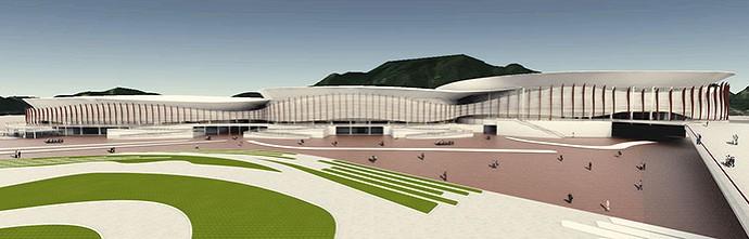 Obras Parque Olímpico da Barra (Foto: Divulgação / EOM)