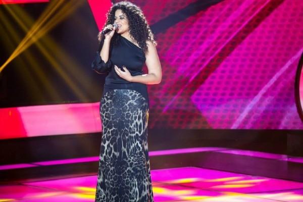 Gaúcha Ana Lonardi no The Voice Brasil (Foto: Isabella Pinheiro/TV Globo)
