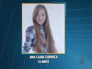 Ana Clara Zorzek, de 16 anos, morreu após ser atropelada (Foto: Reprodução/TV Fronteira)