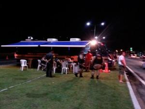 Posto da PRF foi montado na BR-101, em Natal (Foto: Divulgação/PRF)