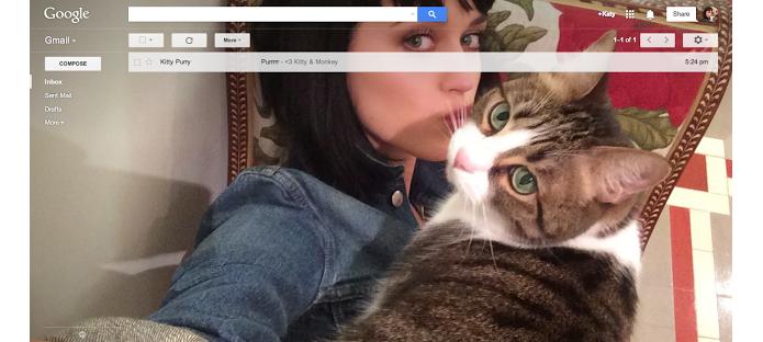 Gmail comemora 10 anos com tema de selfie (Foto: Reprodução/Google)