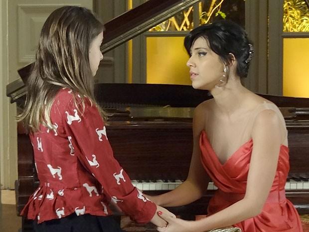 Clara quer ver Rodrigo e Miriam juntos novamente (Foto: Amor Eterno Amor/TV Globo)