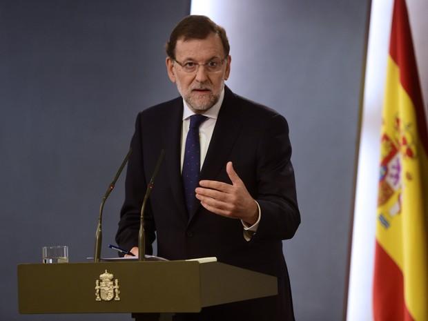 O primeiro-ministro da Espanha, Mariano Rajoy, concede entrevista coletiva em Madri, em 28 de setembro (Foto: AFP Photo/Pierre-Philippe Marcou)