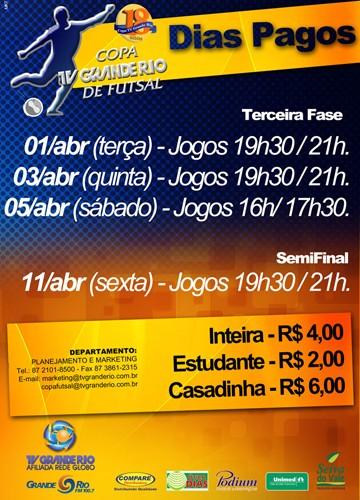Tabela de preços (Foto: Marketing Tv Grande Rio)