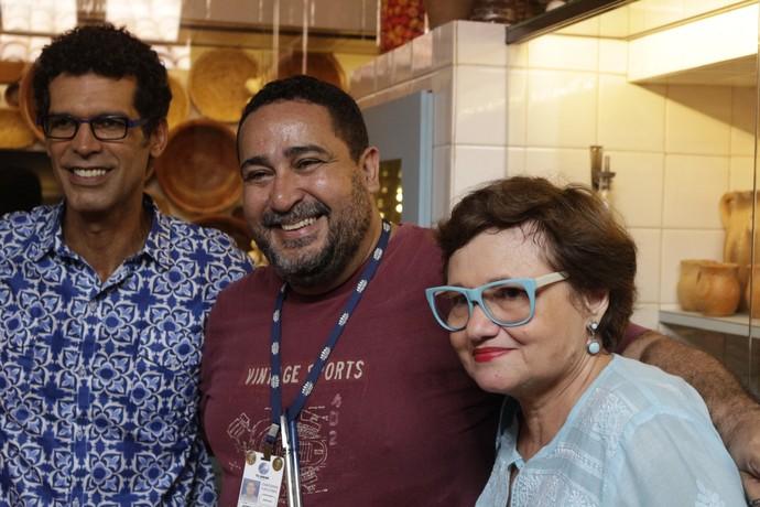 Jackson Costa, Jorge  Almada e Paloma Amado (Foto: TV Bahia)