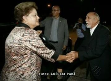 Dilma Roussef em Belém (Foto: Reprodução/TV Liberal)