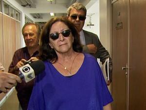 Rosely Nassim Santos chega a audiência do caso Sanasa em Campinas (Foto: Reprodução / EPTV)
