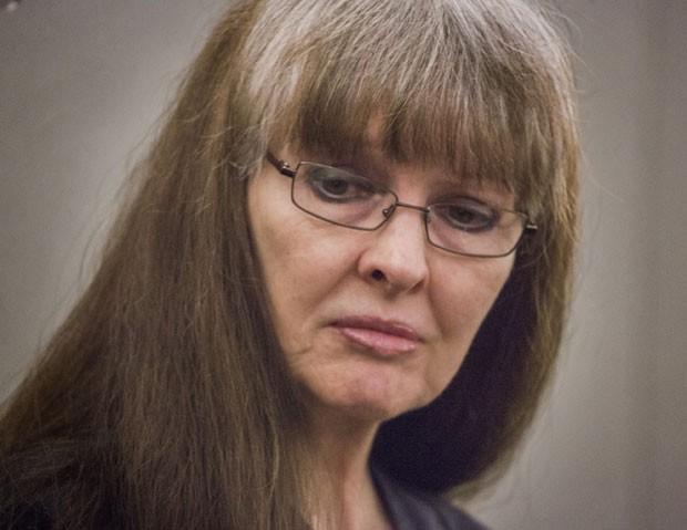 Linda Cooney durante seu julgamento nesta quarta-feira (9) em Las Vegas, nos EUA (Foto: Las Vegas Review-Journal, Jeff Scheid/AP)