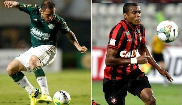 Palmeiras e Atlético-PR na TV Sergipe (Foto: Divulgação / TV Sergipe)
