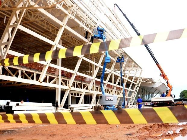 Aeroporto Marechal Rondon, em Várzea Grande, está com obras atrasadas. (Foto: Renê Dióz/G1)