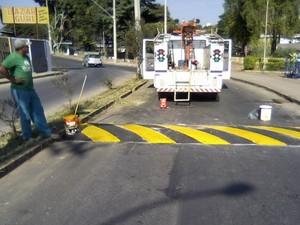quebra mola formiga redutor de velocidade (Foto: Prefeitura de Formiga/Divulgação)