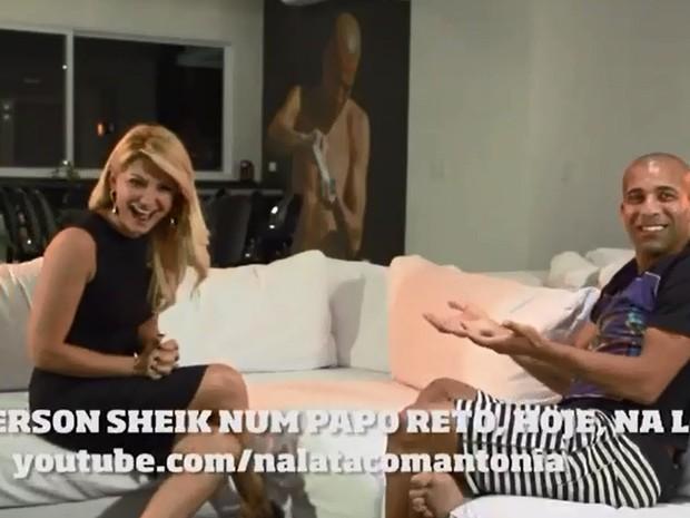 Teaser do programa de entrevistas de Antônia Fontenelle com Emerson Sheik (Foto: Reprodução)