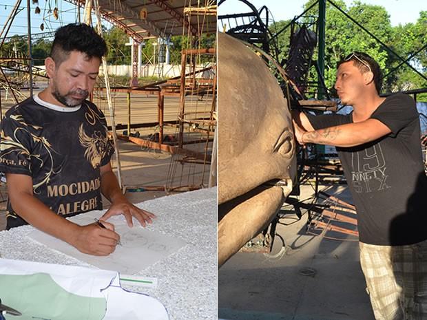 Artistas desempenham um dos trabalhos mais importantes da apresentação dos Botos (Foto: Adonias Silva/G1)