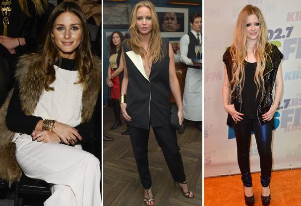 Olivia Palermo, Jennifer Lawrence e Avril Lavigne aderiram aos maxicoletes  (Foto: Getty Image )