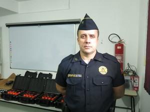De Paula Lima foi o responsável pelo curso dos guardas (Foto: João Paulo de Castro / G1)