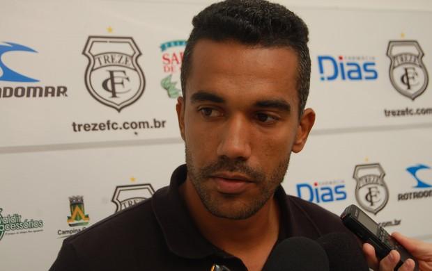 Marco Tiago, zagueiro do Treze (Foto: Silas Batista / Globoesporte.com/pb)