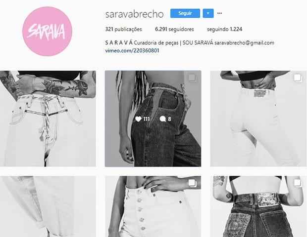 Saravá Brechó (Foto: Instagram)