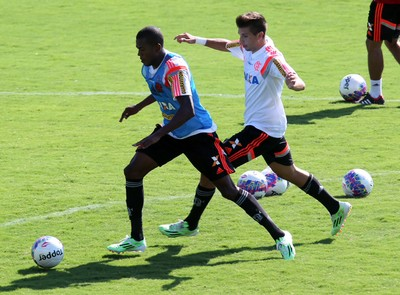 Marcelo Cirino no treino desta sexta (Foto: Gilvan de Souza / Flamengo)