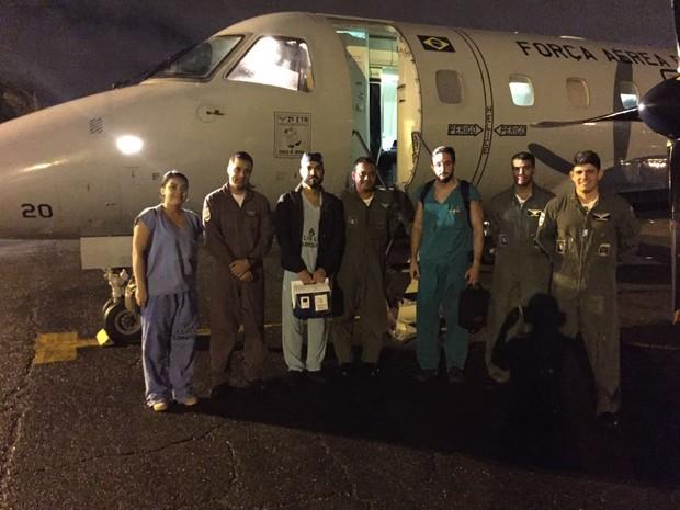 Coração chegou ao Aeroporto dos Guararapes na madrugada desta quarta-feira (22) (Foto: Fernando Augusto/WhatsApp)