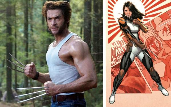 O ator Hugh Jackman como Wolverine e X-23, a clone adolescente do herói (Foto: Reprodução)