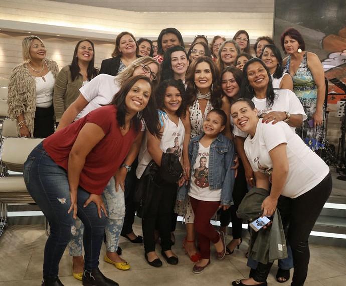 Mais foto da Fátima com a plateia do programa  (Foto: Raphael Dias/Gshow)