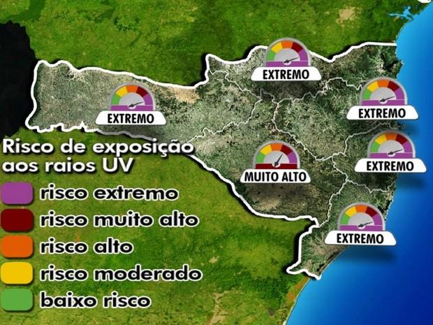 Alto indíce de radiação prejudicial a saúde deixa Santa Catarina (Foto   Reprodução RBS TV d66982625a