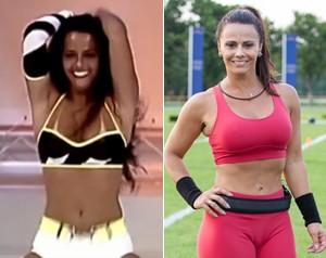 Viviane Araújo em 1997 e atualmente: muito diferente! (Foto: TV Globo e Fabiano Battaglin / Gshow)