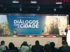 Em evento, Haddad e Russomanno discordam sobre a Cracolândia