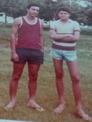 Getúlio, pai de Daniel, está à esquerda de José Williami, pai de Romulo (Foto: Arquivo Pessoal)