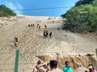 Após banhistas invadirem Morro do Careca, fiscalização será reforçada