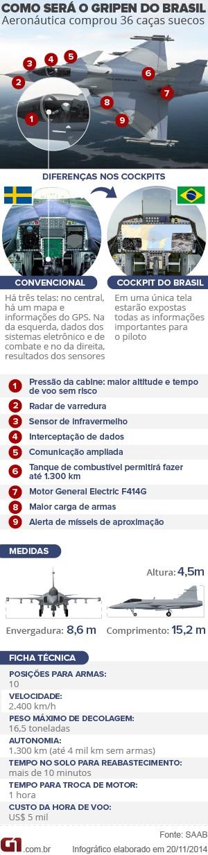 vale este arte Gripen do Brasil (Foto: Arte G1)