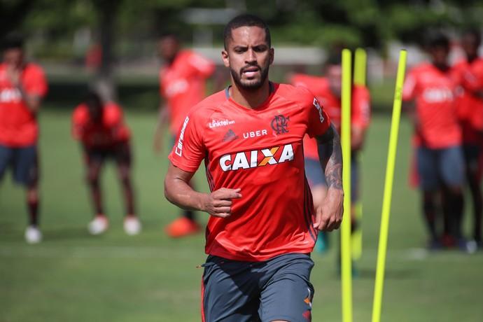 Romulo treino Flamengo  (Foto: Gilvan de Souza/ Flamengo)