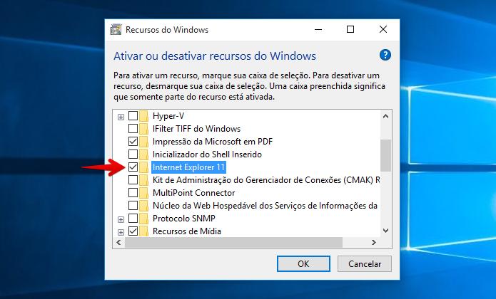 Reativando o Internet Explorer (Foto: Reprodução/Helito Bijora)