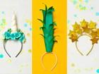 Carnaval 2017: veja como fazer tiaras de unicórnio, abacaxi e estrelas