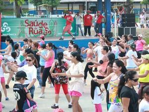 Projeto 'Saúde de Rua' promove ações culturais e esportivas em Manaus (Foto: Katiúscia Monteiro/G1 AM)