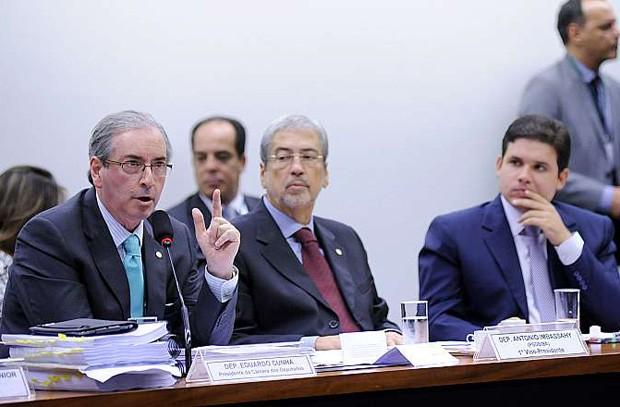 O presidente da Câmara, Eduardo Cunha, recebeu vários elogios de colegas durante depoimento à CPI da Petrobras (Foto: Lucio Bernardo Jr. - Câmara dos Deputados)